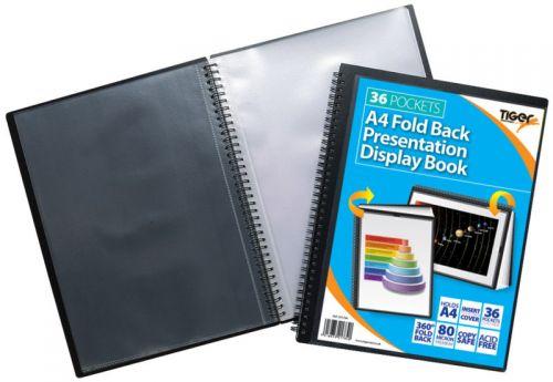 Tiger A4 Fold Back Display Book 36 Pocket