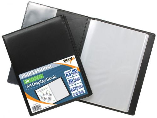 Tiger A4 Professional Display Book 20 Pocket