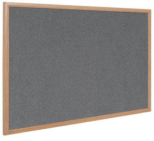Bi-Office Earth-It Exec Grey Felt Ntcbrd Oak Frme 90x60cm
