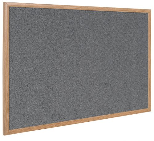 Bi-Office Earth-It Exec GY Felt Ntcbrd Oak Frme 120x90cm
