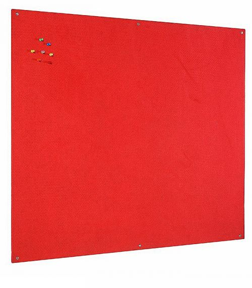 Bi-Office Unframed Red Felt Notice Board 90x60cm