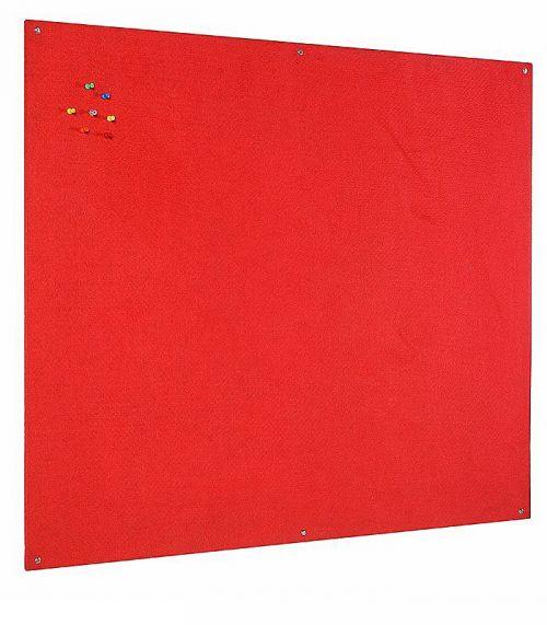 Bi-Office Unframed Red Felt Notice Board 120x90cm