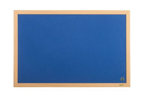 Bi-Office Earth-It Blue Felt Ntcbrd Oak Frame 240x120cm