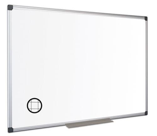 Bi-Office Maya Gridded Magnetic Alu Framed WTbrd 90x60cm