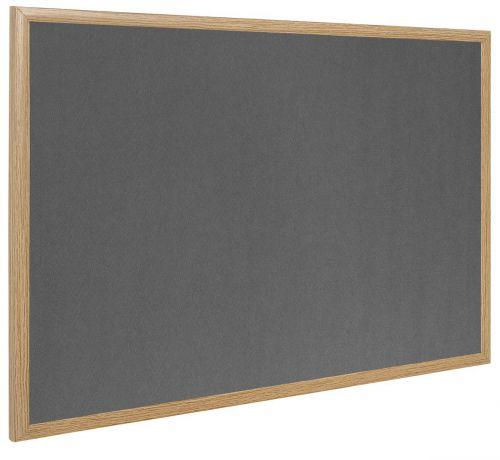Bi-Office Earth-It Grey Felt Ntcbrd Oak Frame 180x120cm