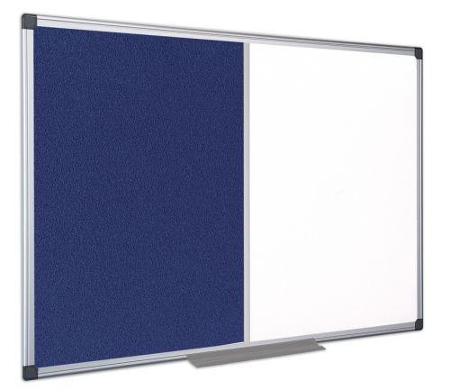 Bi-Office Maya Combo Aluminium Frame Board Blue 120x90cm
