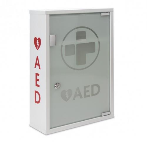 AED Metal Wall Cabinet (UNALARMED) Glass Door  Lockable
