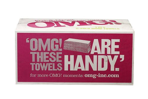 OMG C Fold White Hand Towels 2 Ply