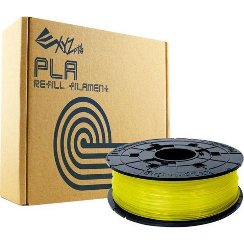 XYZ PLA Filament 1 75 Clear Yel Refill