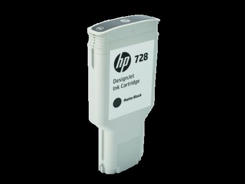 HP F9J68A 728 MATT BLACK INK CART 300ML