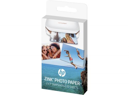 HP W4Z13A Zink Sticky Backed Photo Paper 5x 7.6cm 20 Sheets