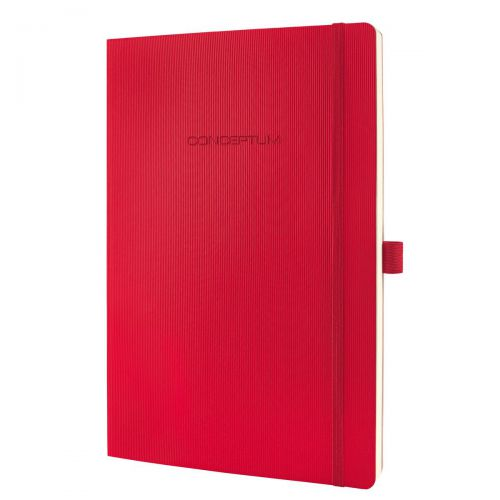 Sigel CONCEPTUM Notebook Softcover Lined 187x270x14mm Red