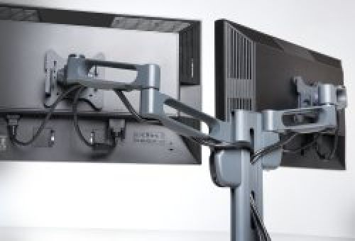 Fellowes Triple Monitor Arm Adjustable 360-degree Rotation Black Ref 8042601