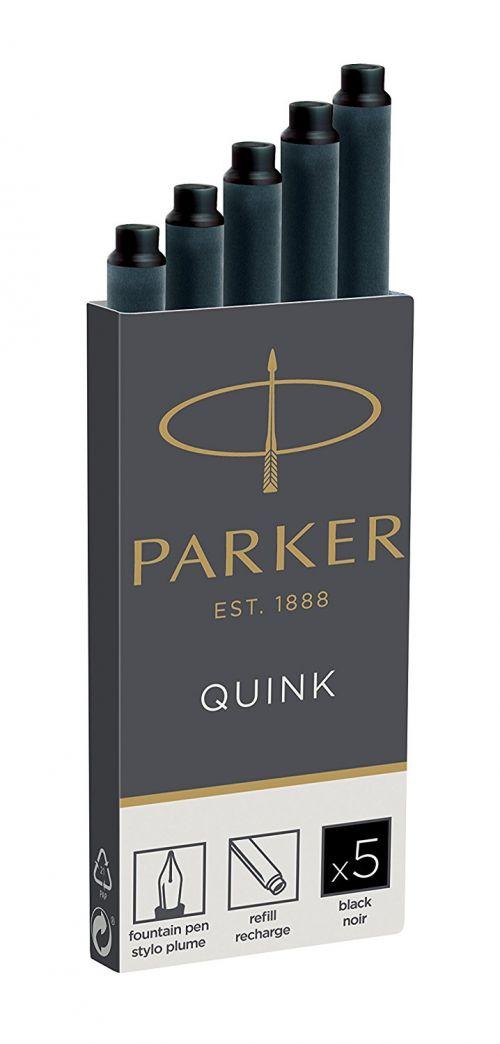 Parker Quink Ink Cartridges Permanent Black PK5