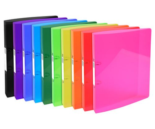 Iderama A4 Ring Binders 32x26cm 2 Ring 40mm Assorted Colours. Pack of 10