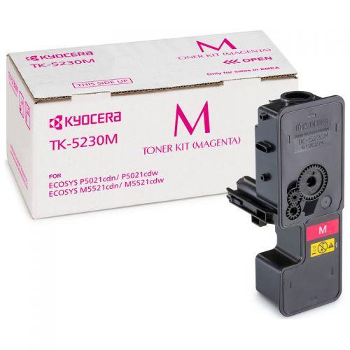 Kyocera 1T02R9BNL0 TK5230M Magenta Toner 2.2K