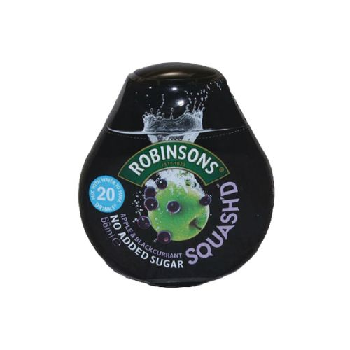 Robinsons Squashed Apple n Blackcurrant Drink 66ml (Pack 6)