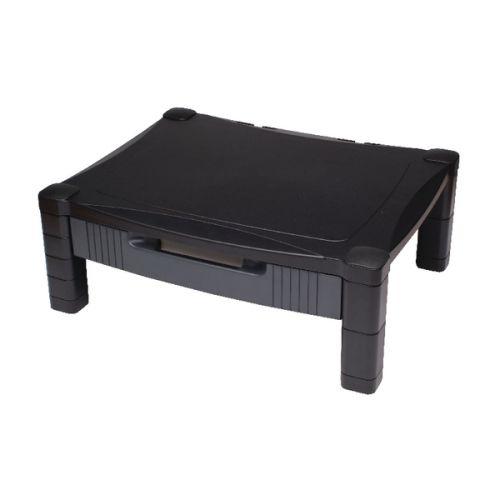 Contour Ergonomics Adjustable Stand With Drawer Black CE77685