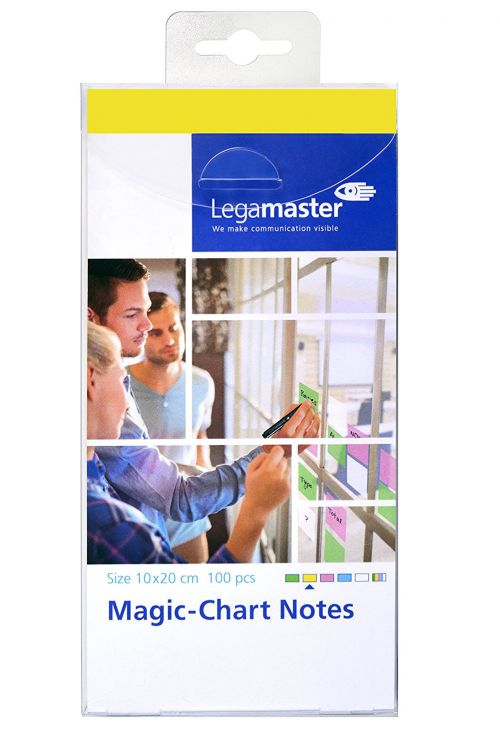Legamaster Magic-Chart Notes yellow 10x20CM PK100