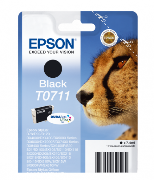 Epson T0711 Black Inkjet Cartridge C13T07114012