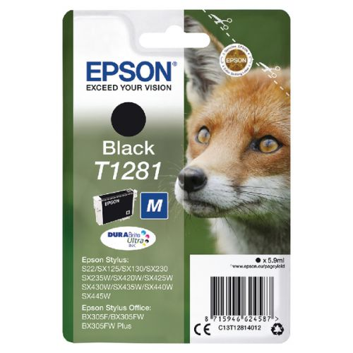 Epson C13T12814012 T1281 Black Ink 6ml