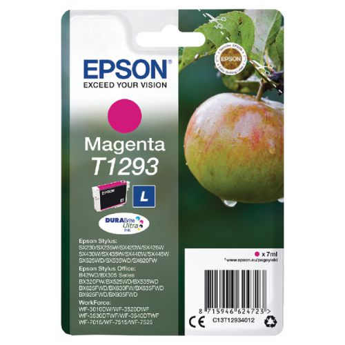 Epson C13T12934012 T1293 Magenta Ink 7ml