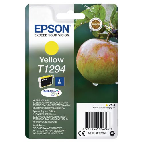 Epson C13T12944012 T1294 Yellow Ink 7ml
