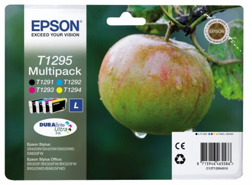 Epson C13T12954012 T1295 Black Colour Ink 11ml 3x7ml Multi