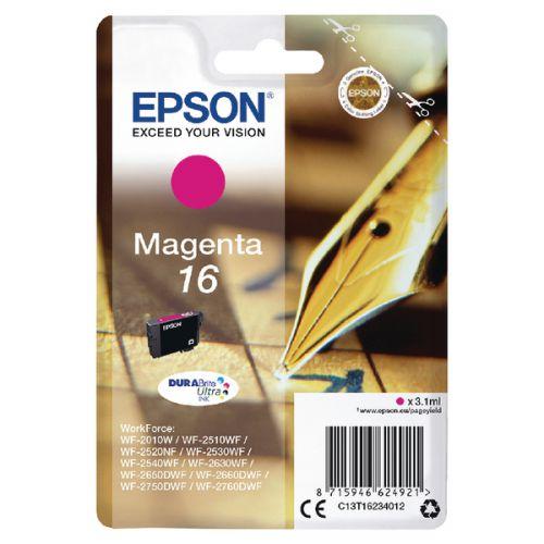 Epson C13T16234012 16 Magenta Ink 3ml