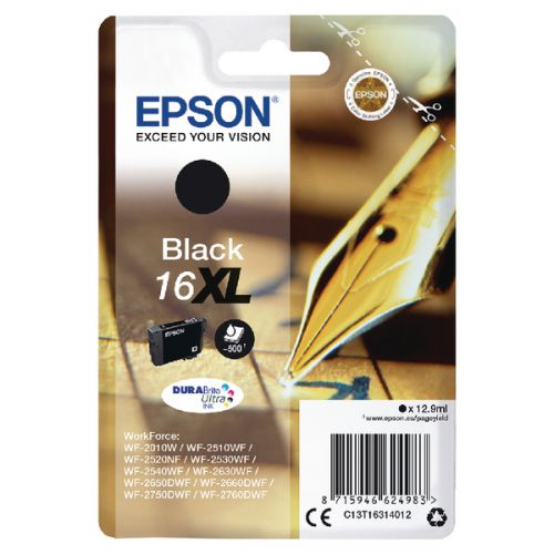 Epson C13T16314012 16XL Black Ink 13ml