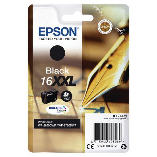 EPSON T1681 16XXL BLACK Pen & Crossword 1000 PAGES