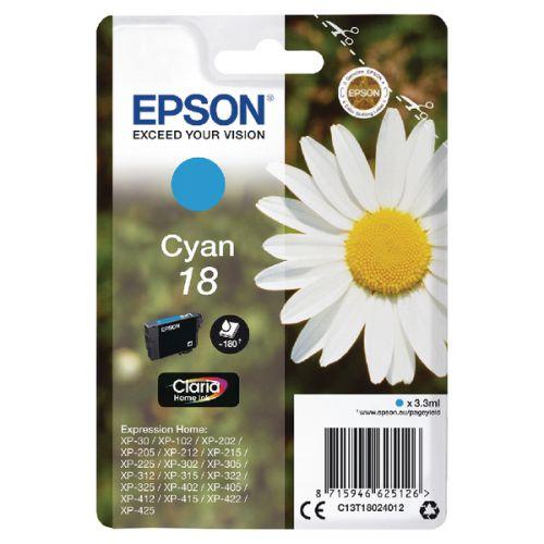 Epson C13T18024012 18 Cyan Ink 3ml