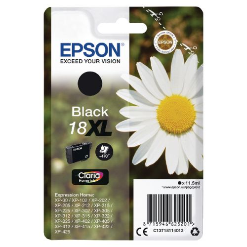 Epson C13T18114012 18XL Black Ink 11.5ml