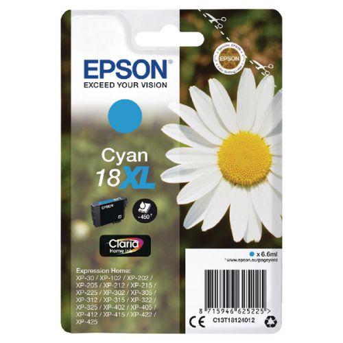 Epson C13T18124012 18XL Cyan Ink 7ml