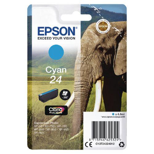 Epson C13T24224012 24 Cyan Ink 5ml