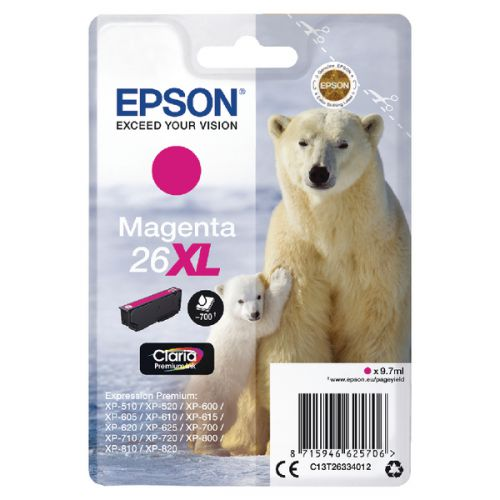 Epson C13T26334012 26XL Magenta Ink 10ml