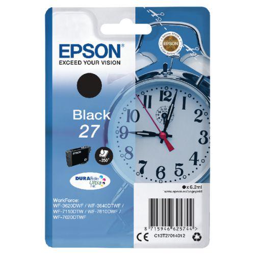 Epson C13T27014012 27 Black Ink 6ml