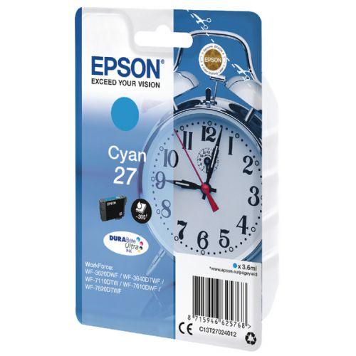 Epson C13T27024012 27 Cyan Ink 4ml