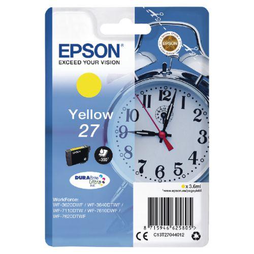 Epson C13T27044012 27 Yellow Ink 4ml
