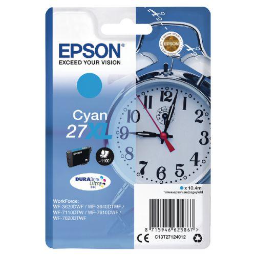 Epson C13T27124012 27XL Cyan Ink 10ml