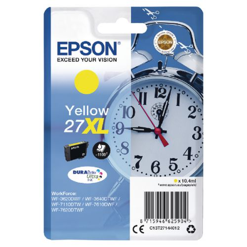 Epson C13T27144012 27XL Yellow Ink 10ml