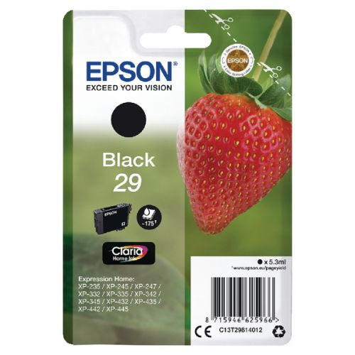 Epson C13T29814012 29 Black Ink 5ml