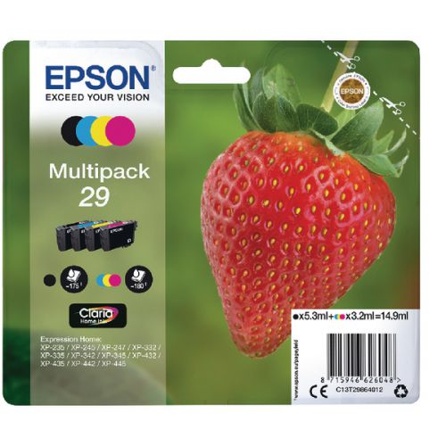 Epson C13T29864012 29 Black Colour Ink 5ml 3x3ml Multipack