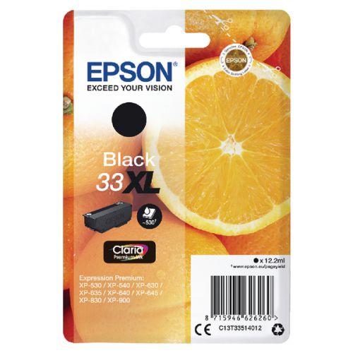 Epson C13T33514012 33XL Black Ink 12ml
