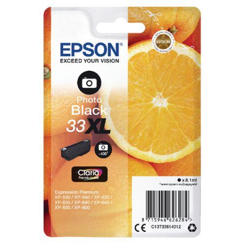 Epson C13T33614012 33XL Photo Black Ink 8ml