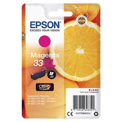 Epson C13T33634012 33XL Magenta Ink 9ml