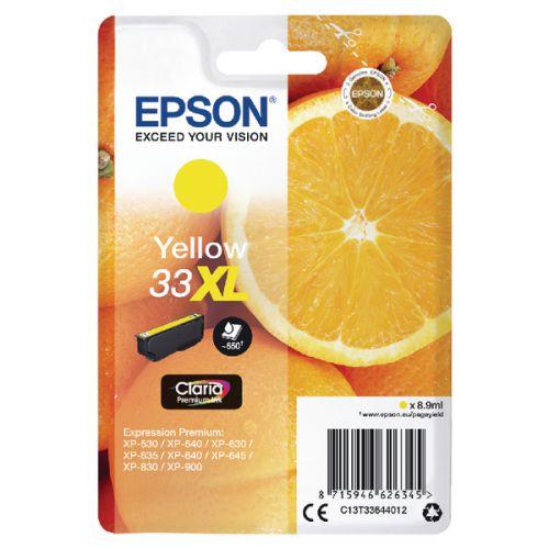 Epson C13T33644012 33XL Yellow Ink 9ml
