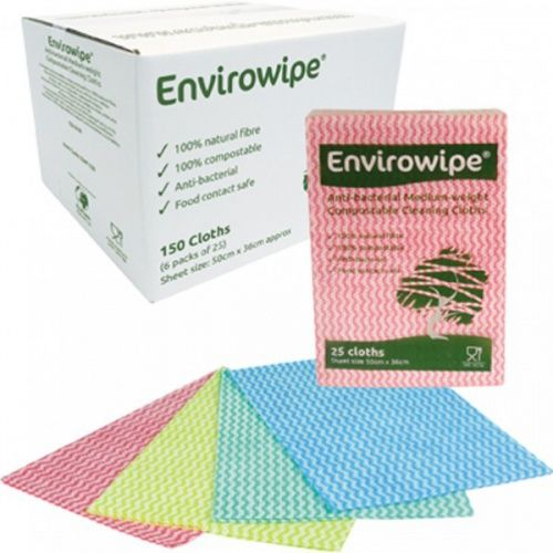 Image for Envirowipe 100% Natural Cleaning Cloths (50x36cm) Red PK25