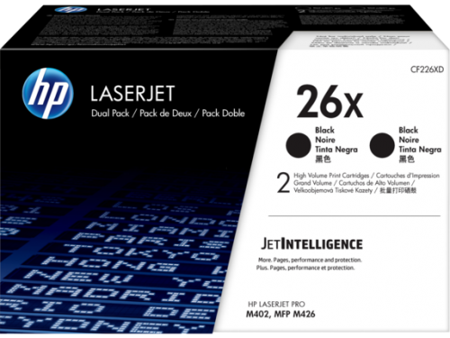 HP CF226XD 26X Black Toner 9K Twinpack