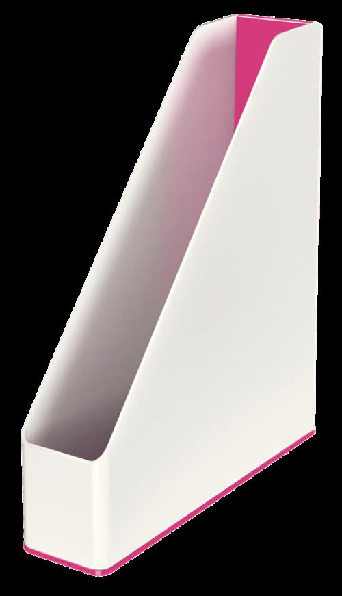 Leitz WOW Duo Colour Magazine File A4 Pink 53621023 (Pk1)